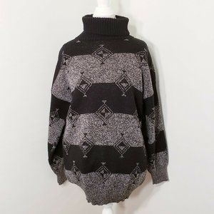 Vintage Amita of Florence Black Gray Sweater